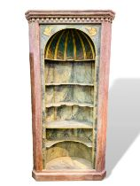 Pine painted shelved alcove unit