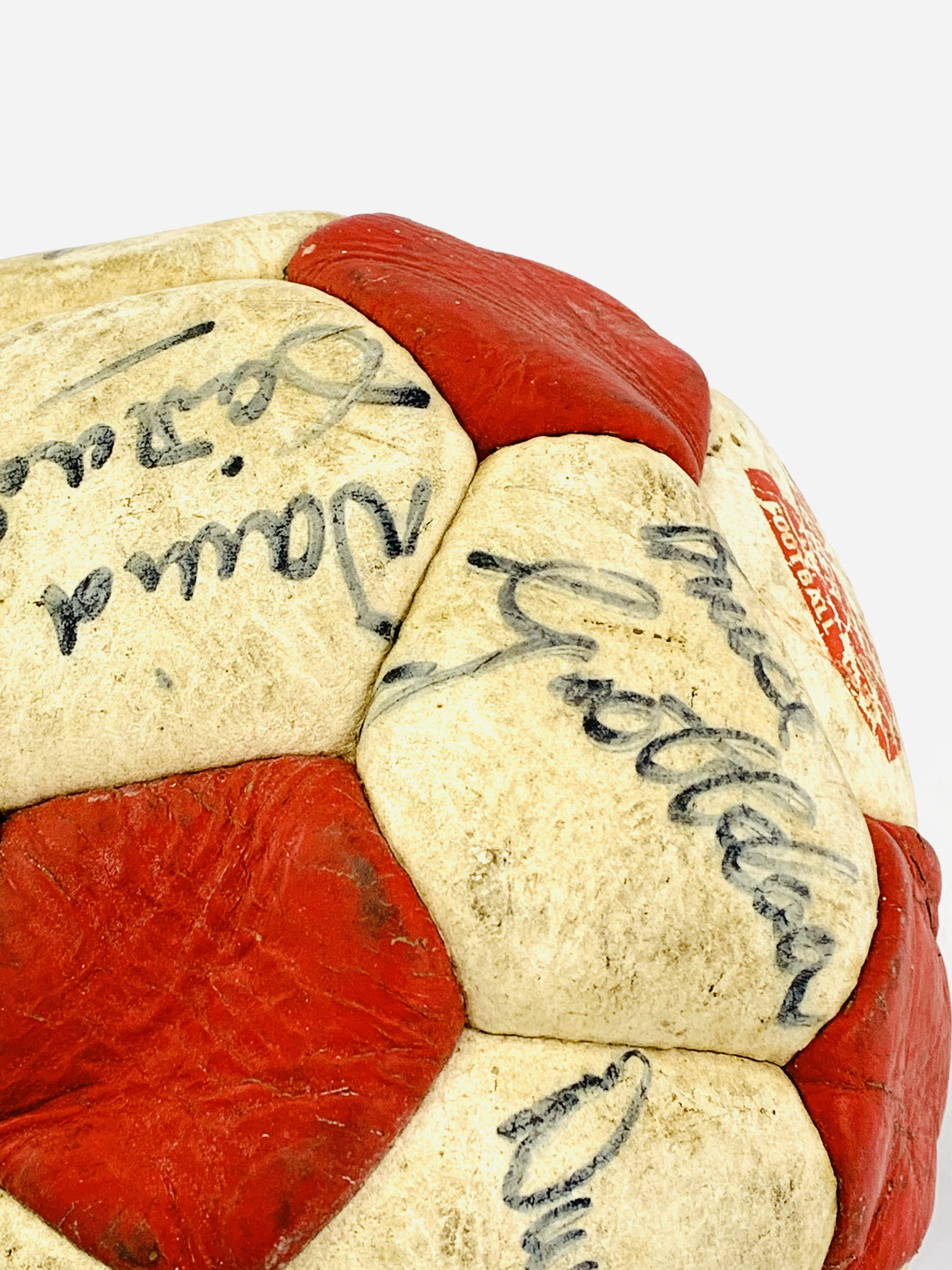 Signed Liverpool FC football, with original signatures - Image 4 of 4