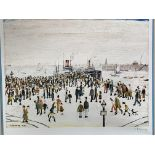 """Framed Limited Edition L S Lowry print """"Ferry Boats"""""""