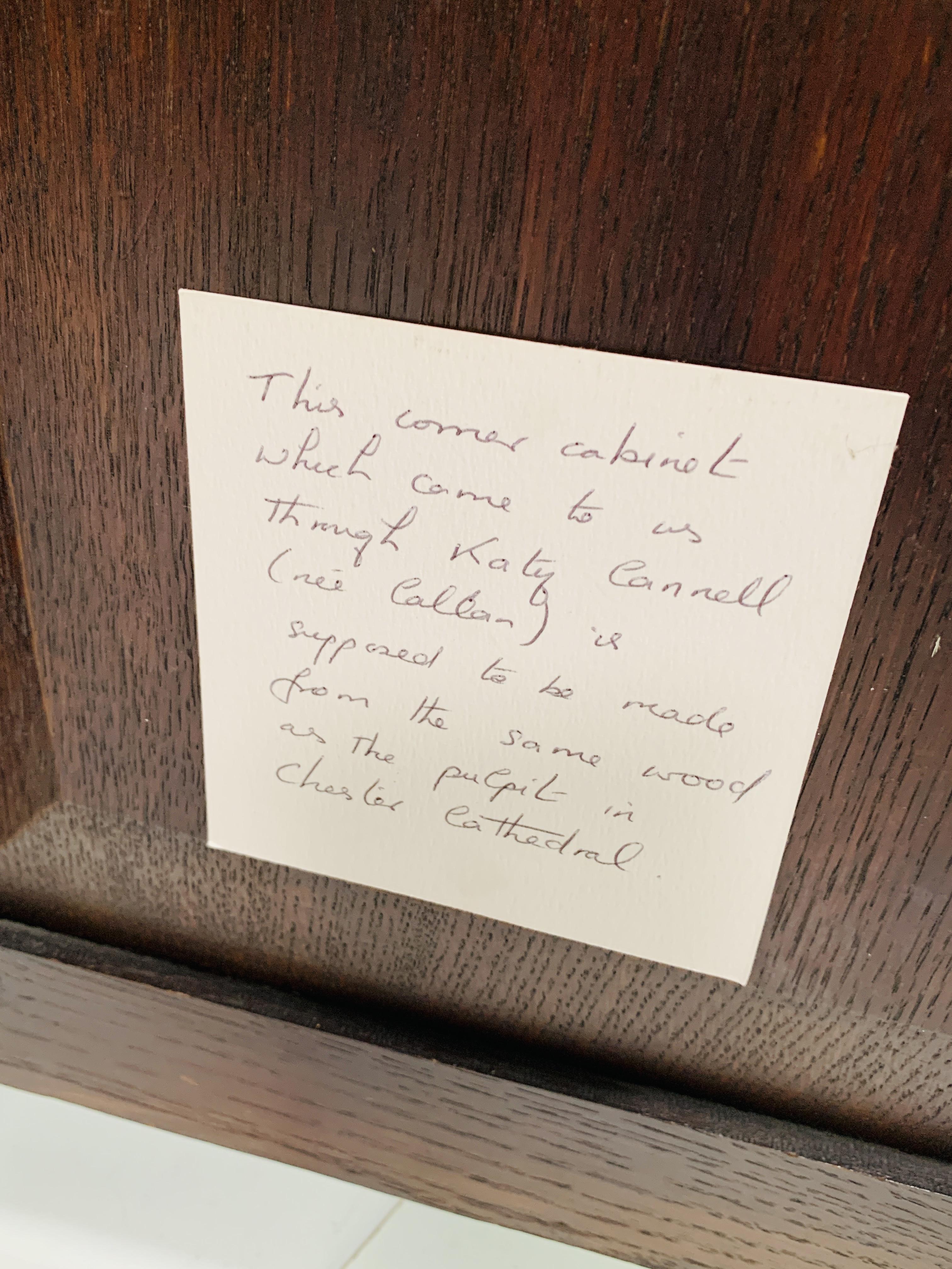 Oak corner cupboard - Image 5 of 6