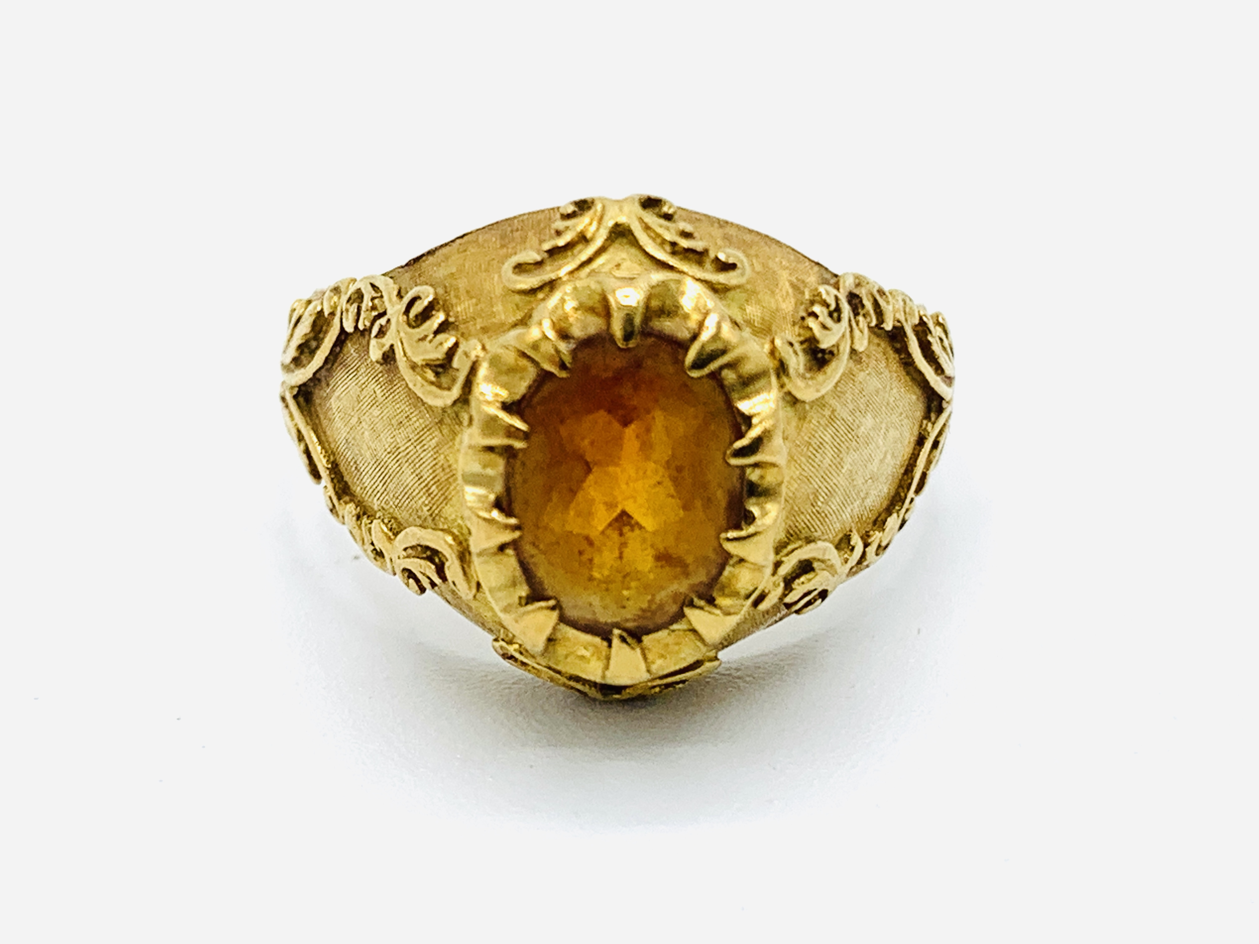 18ct gold and citrine ring and a yellow metal and yellow stone ring - Image 6 of 8