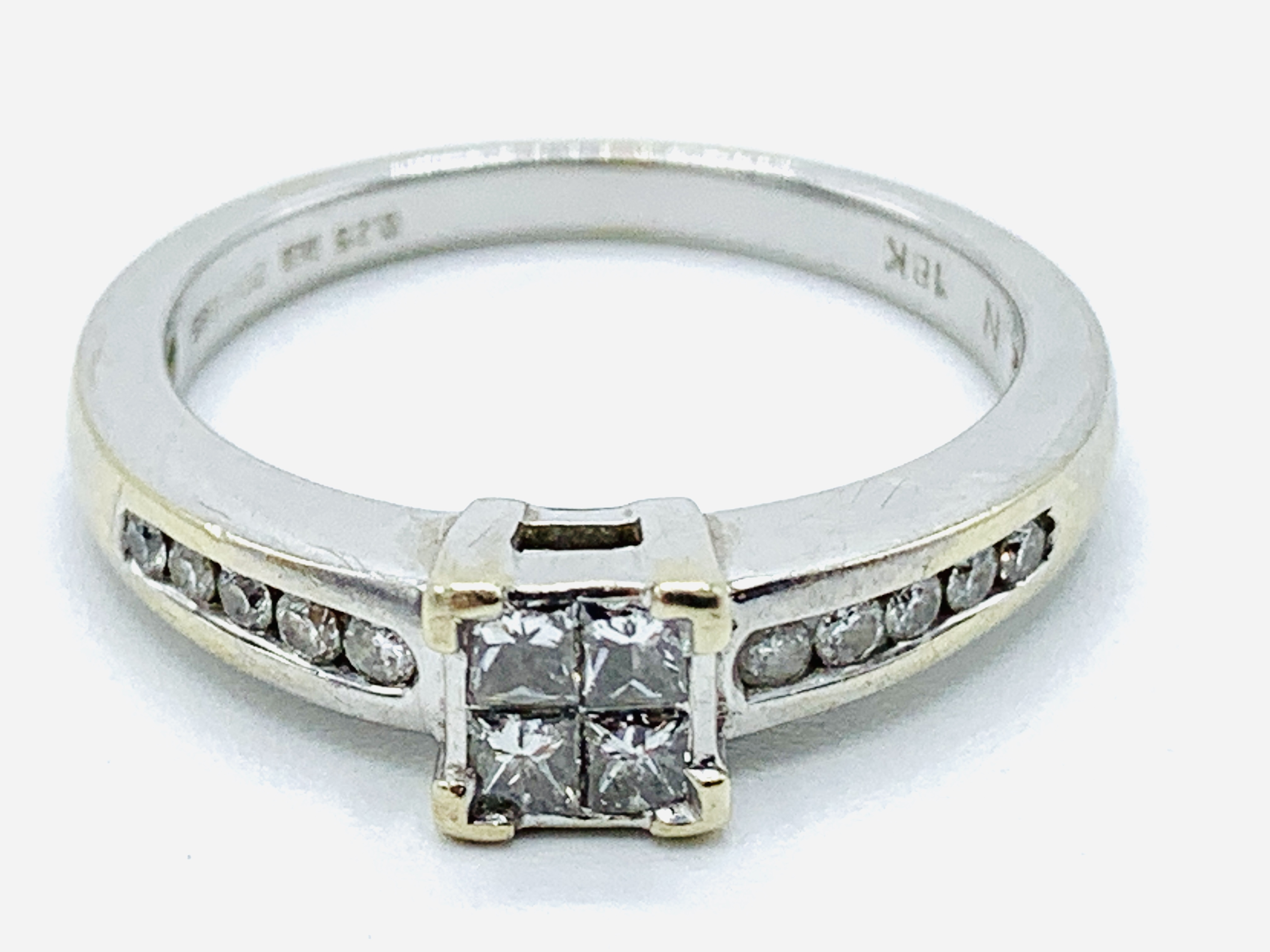 18ct white gold ring - Image 4 of 4