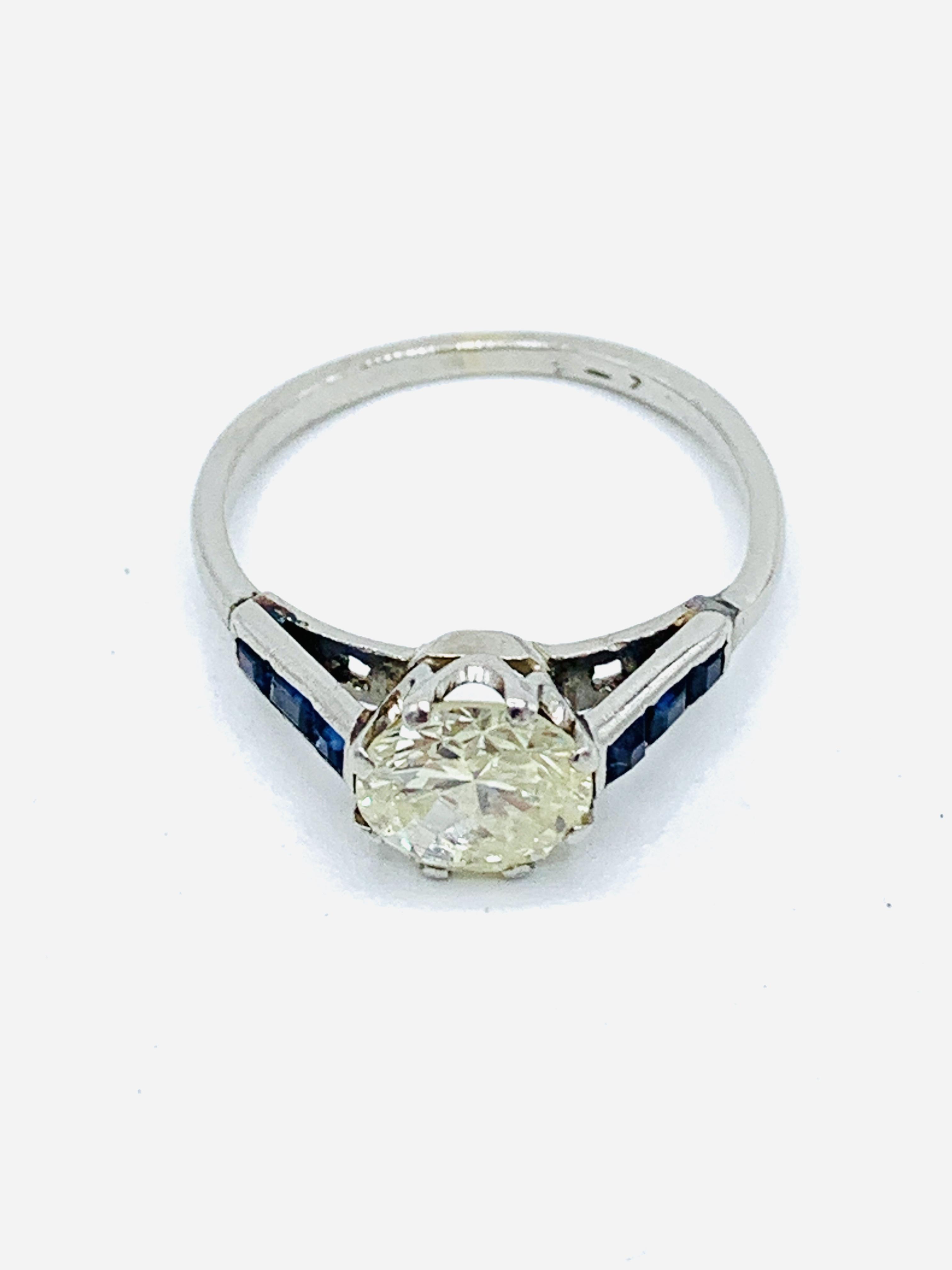 Platinum solitaire diamond ring - Image 5 of 5