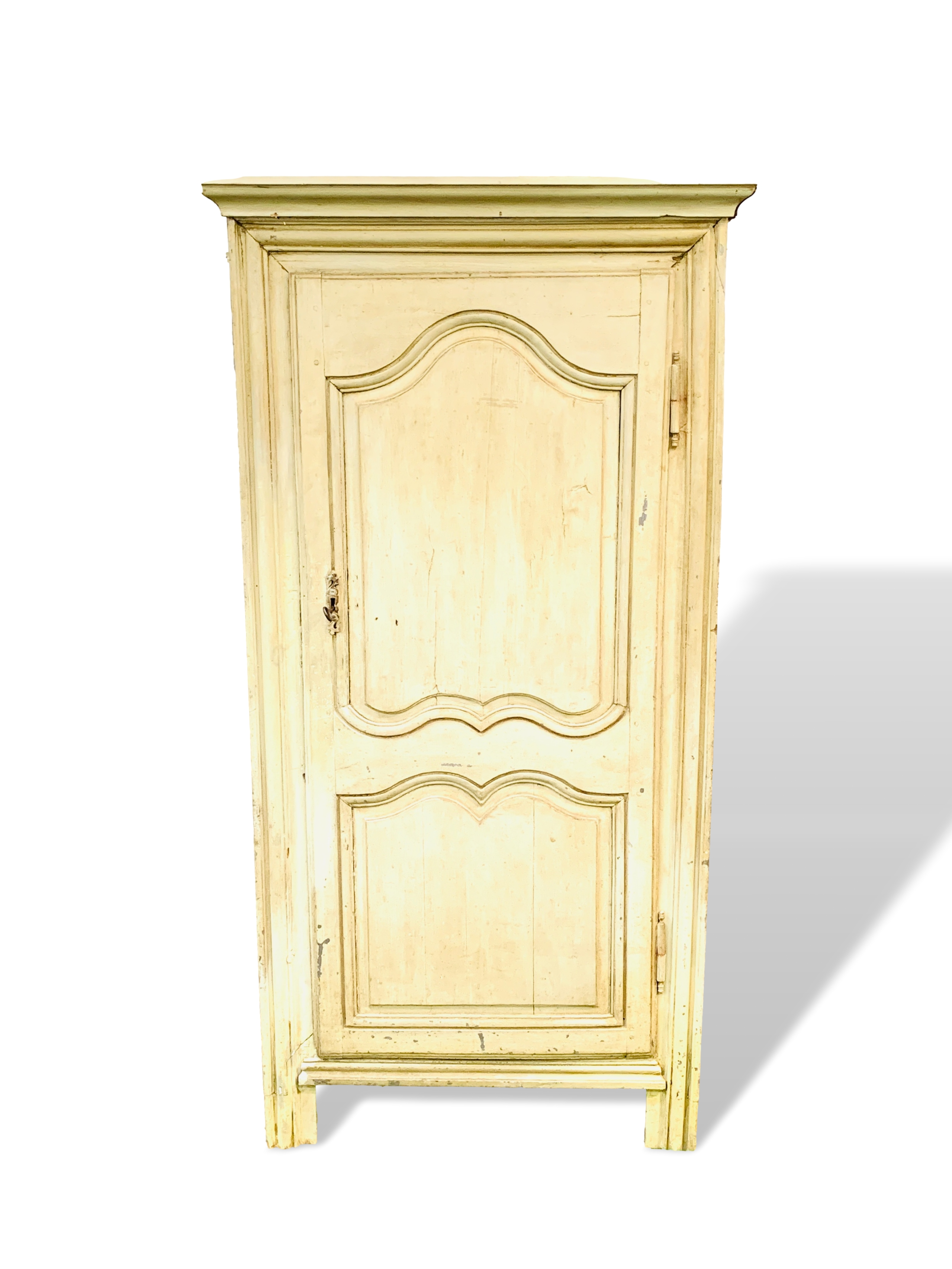 Mid-9th century French painted pine cupboard
