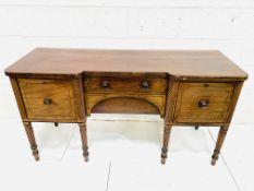 19th century mahogany break-front sideboard