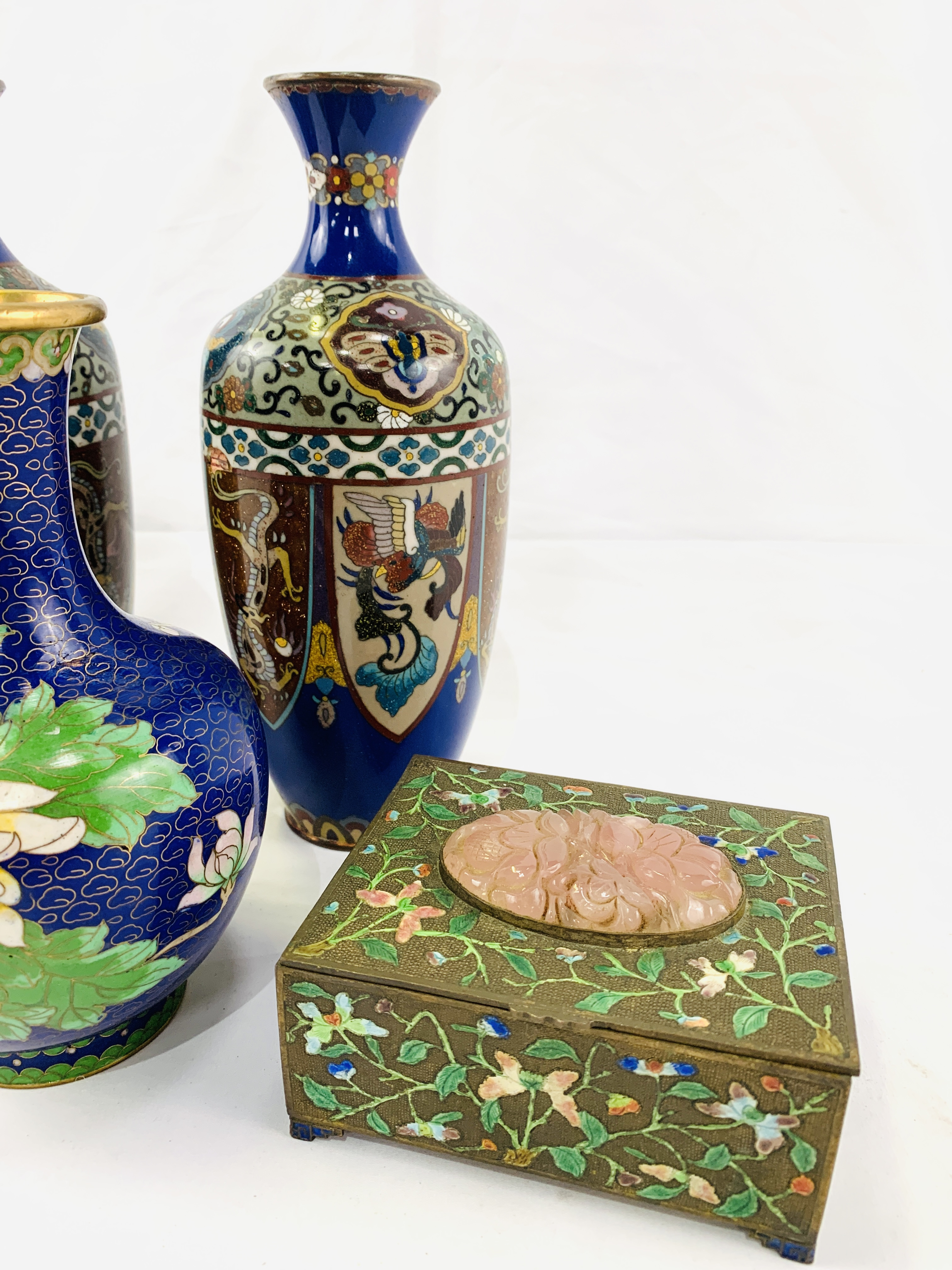 Collection of cloisonné objects - Image 7 of 8