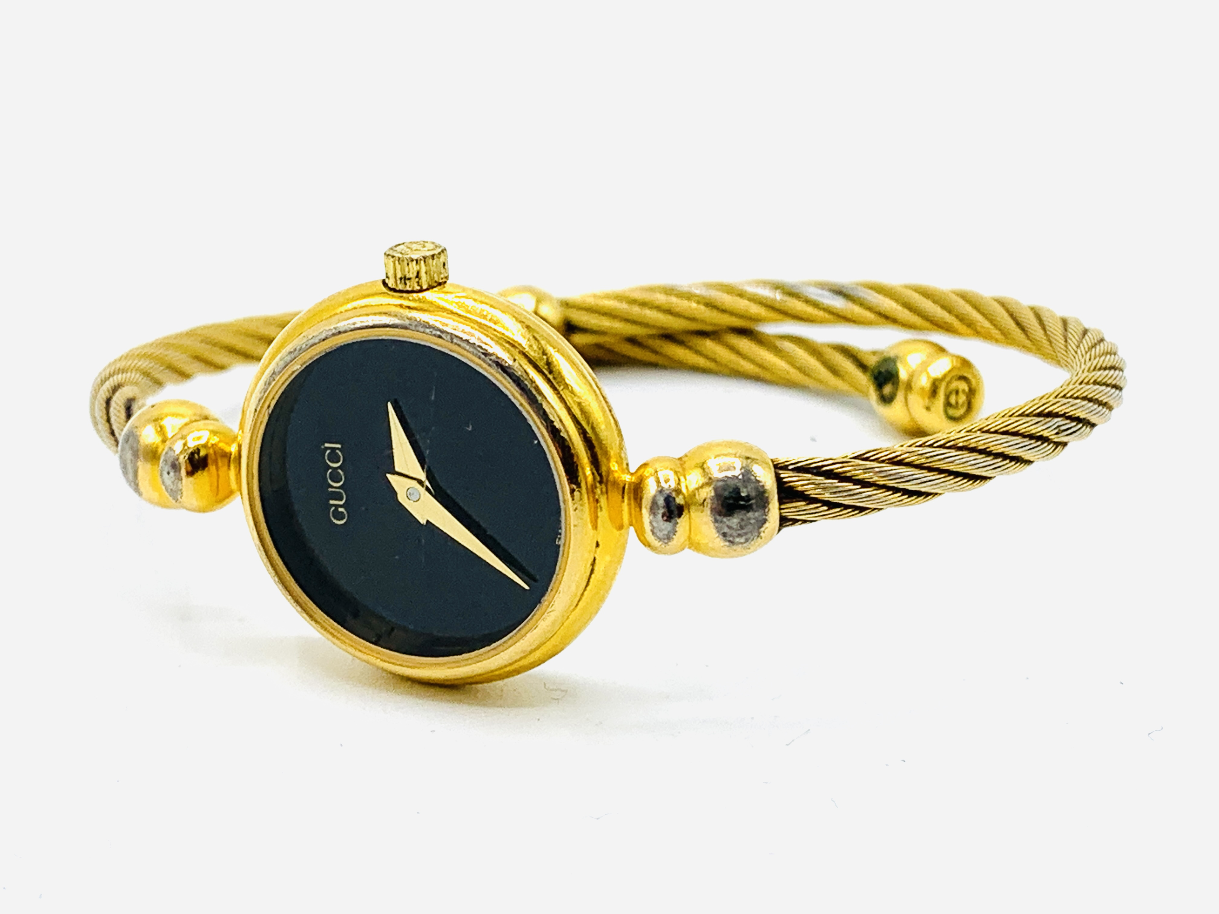 Gucci gold plate case watch with bangle strap, no. 2700.2.L - Image 2 of 3