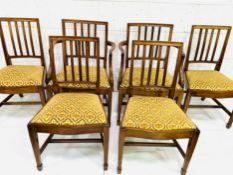 Group of six Georgian style mahogany dining chairs