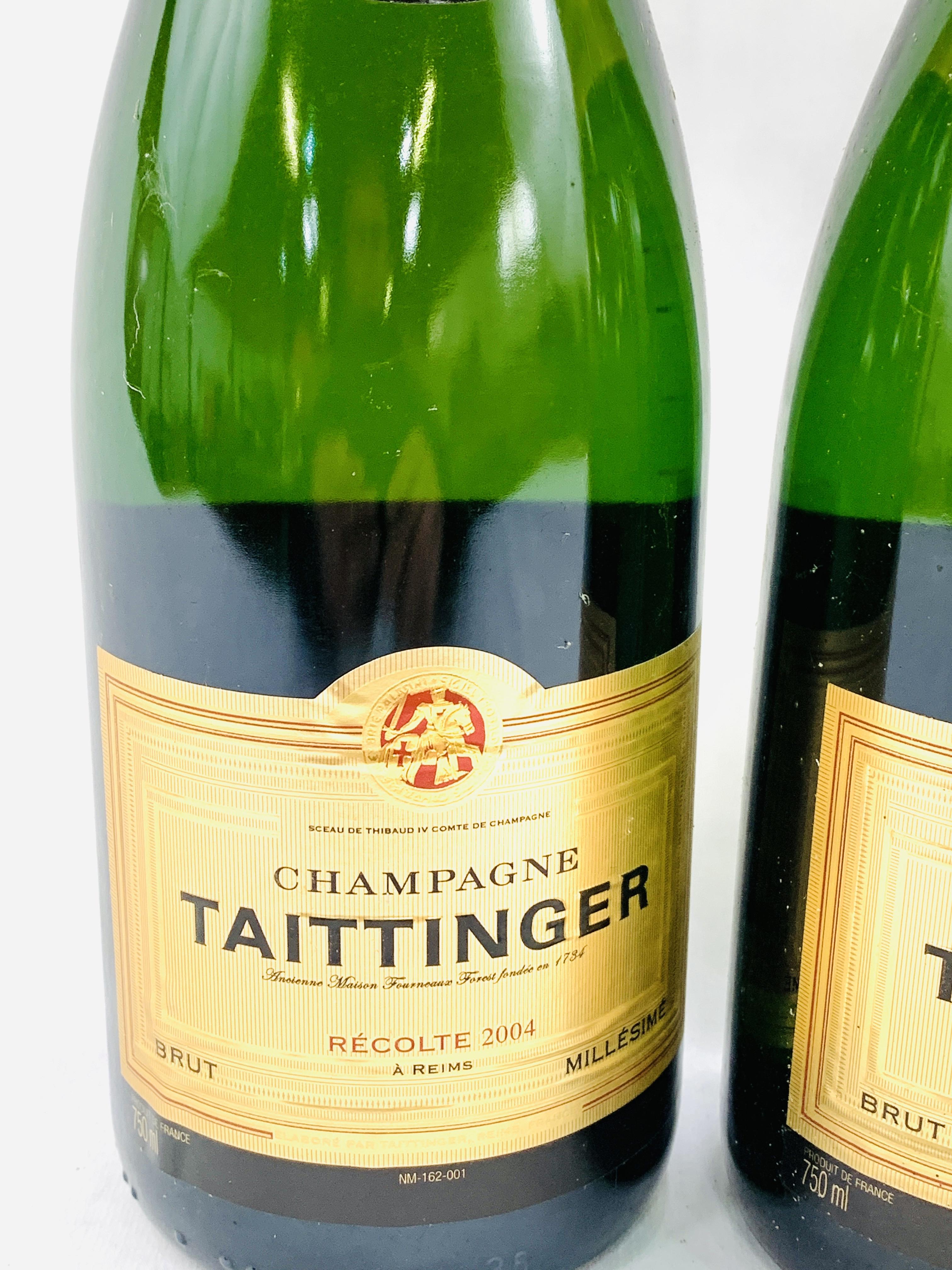 Two 75cl bottles of 2004 Taittinger Brut Millesime champagne - Image 3 of 3