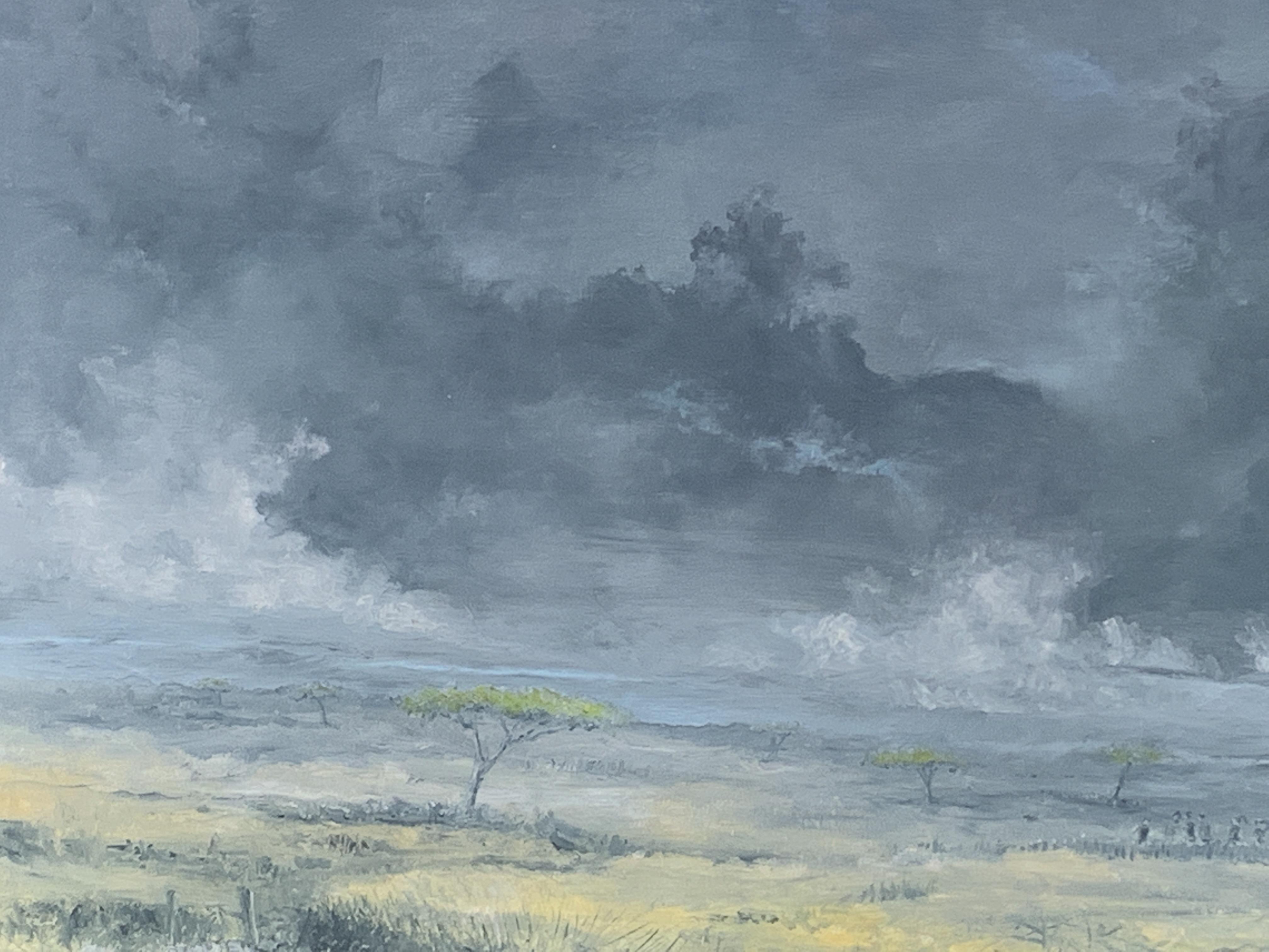 Framed oil on canvas signed John Hutchins