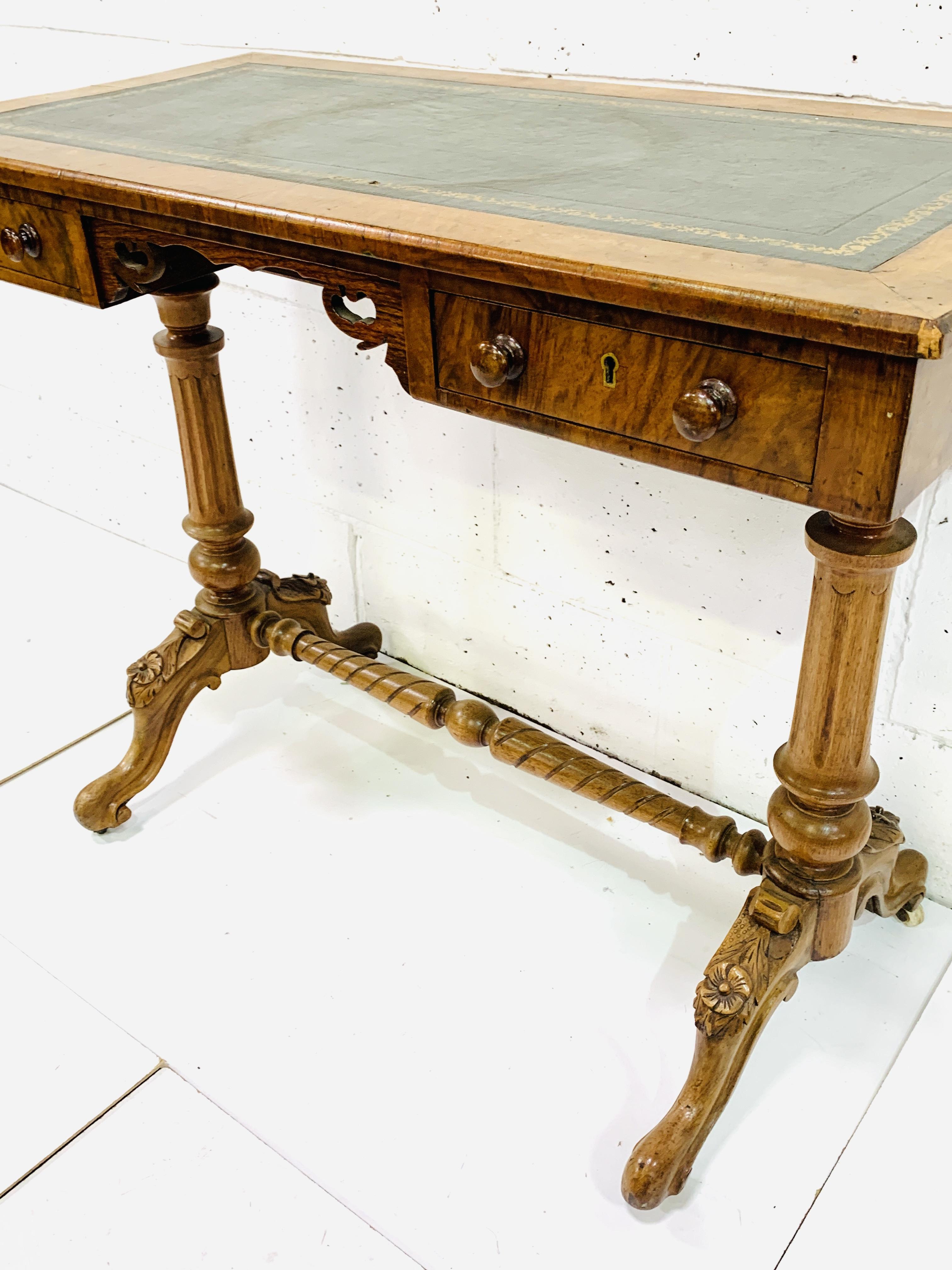 A mahogany writing table - Image 6 of 6