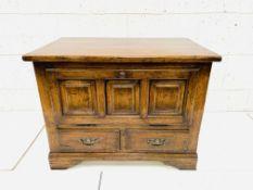 An oak low cabinet
