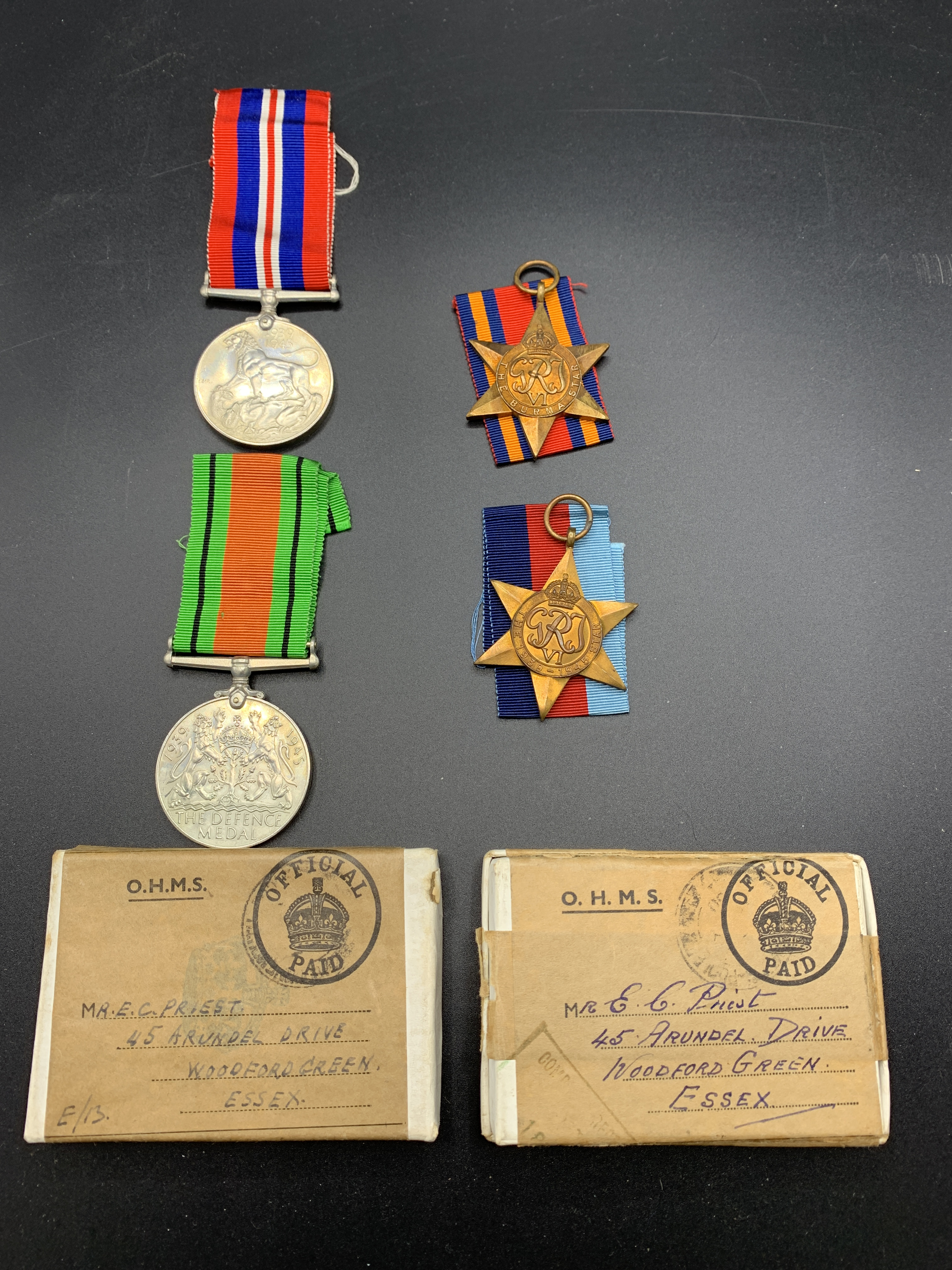 Medals from 1939-1945 and three commemorative coins