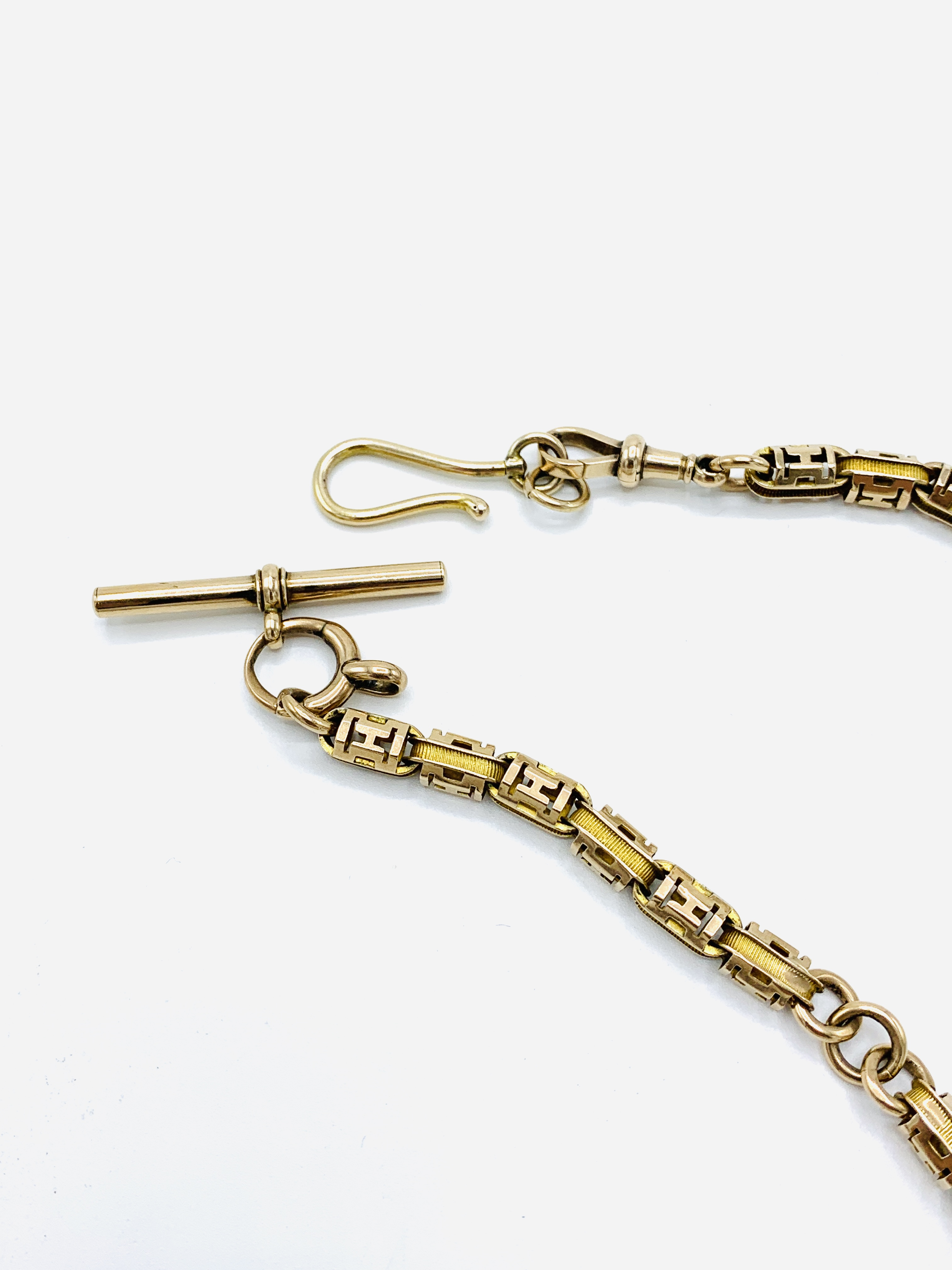 9ct gold pocket watch fob with hook clasp - Image 3 of 4