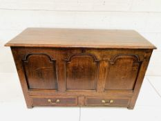 19th century oak monk's chest