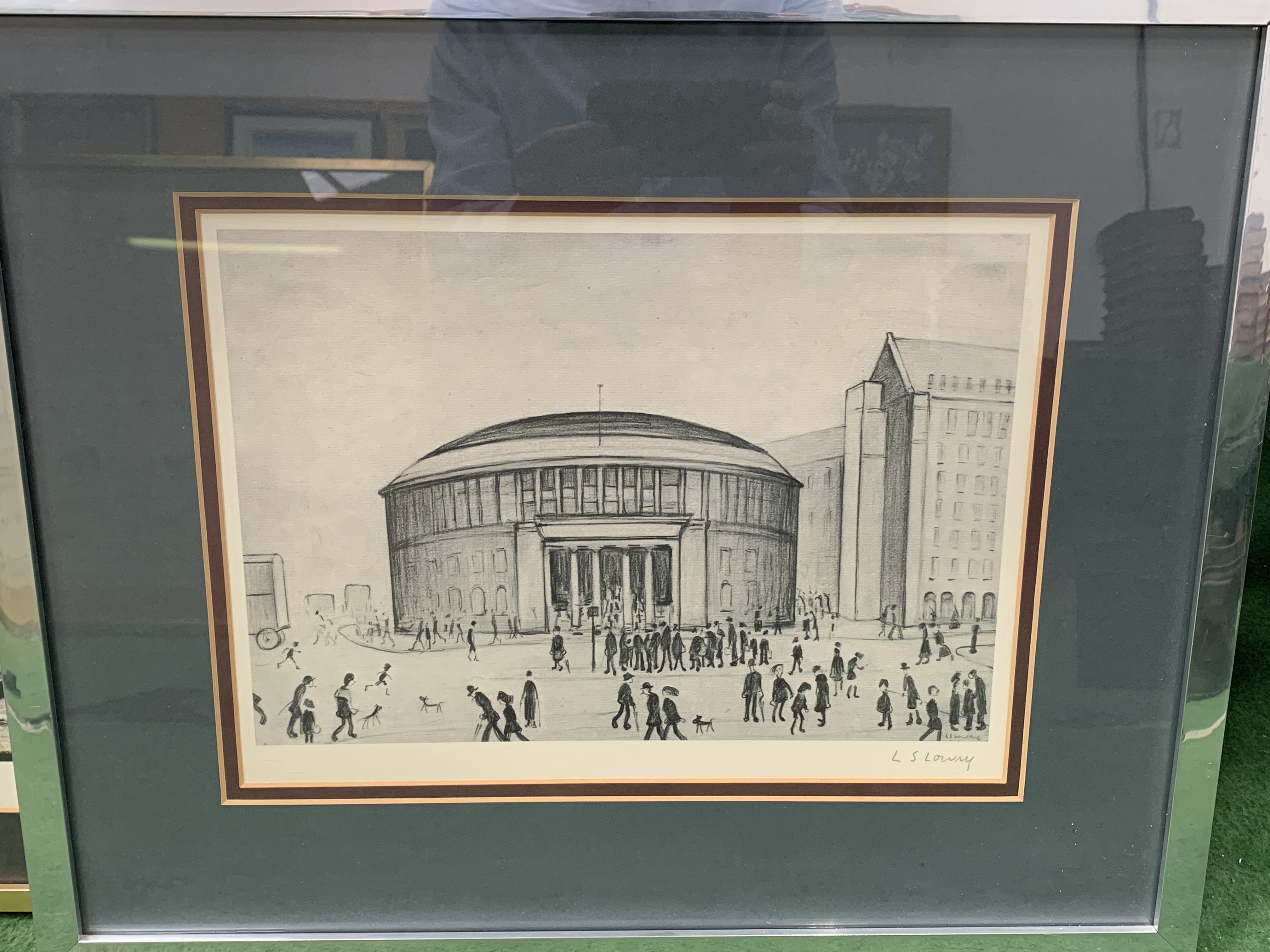 Framed and glazed Limited Edition L S Lowry print of Manchester Reference Library - Image 2 of 4