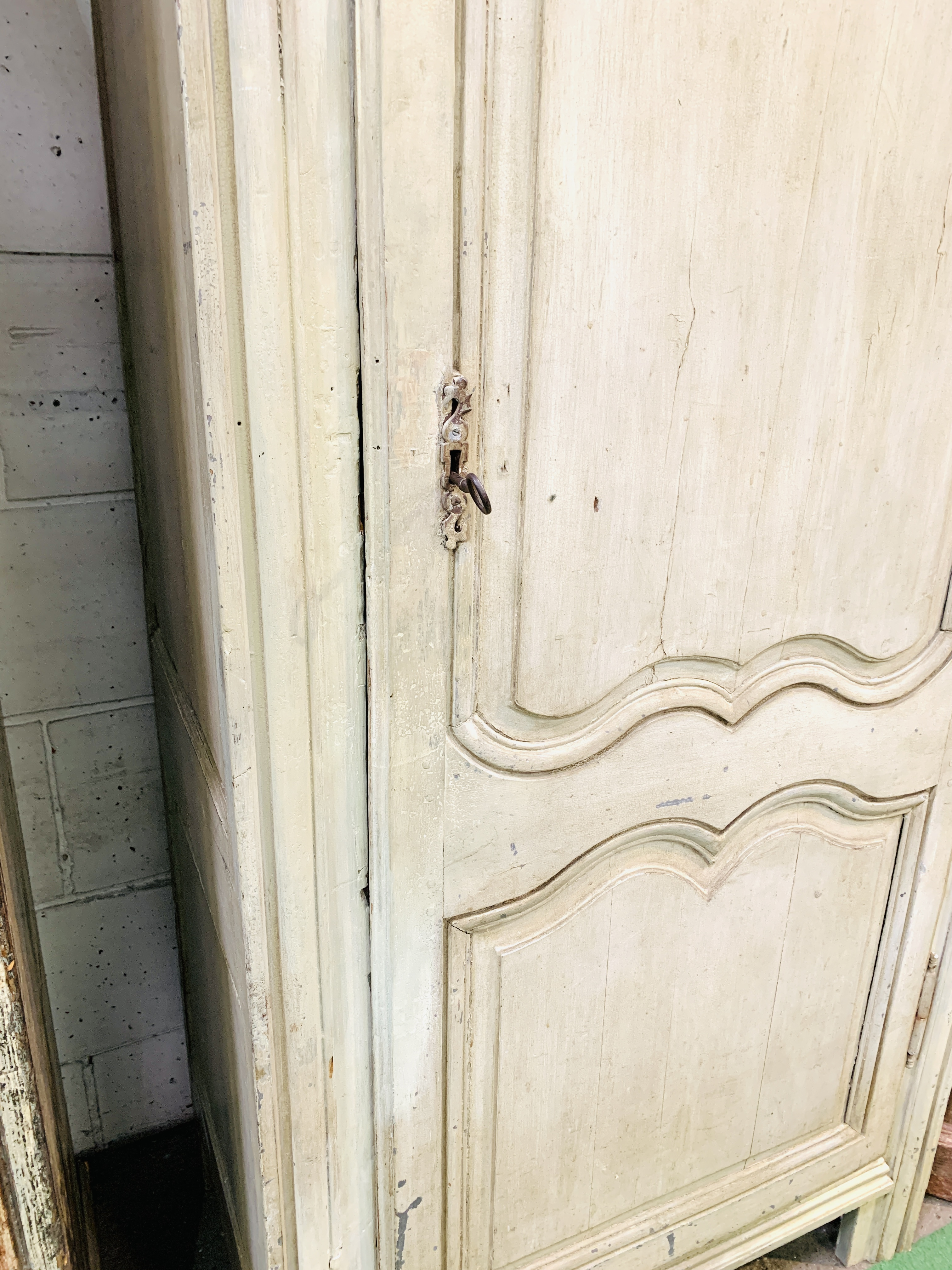 Mid-9th century French painted pine cupboard - Image 3 of 5