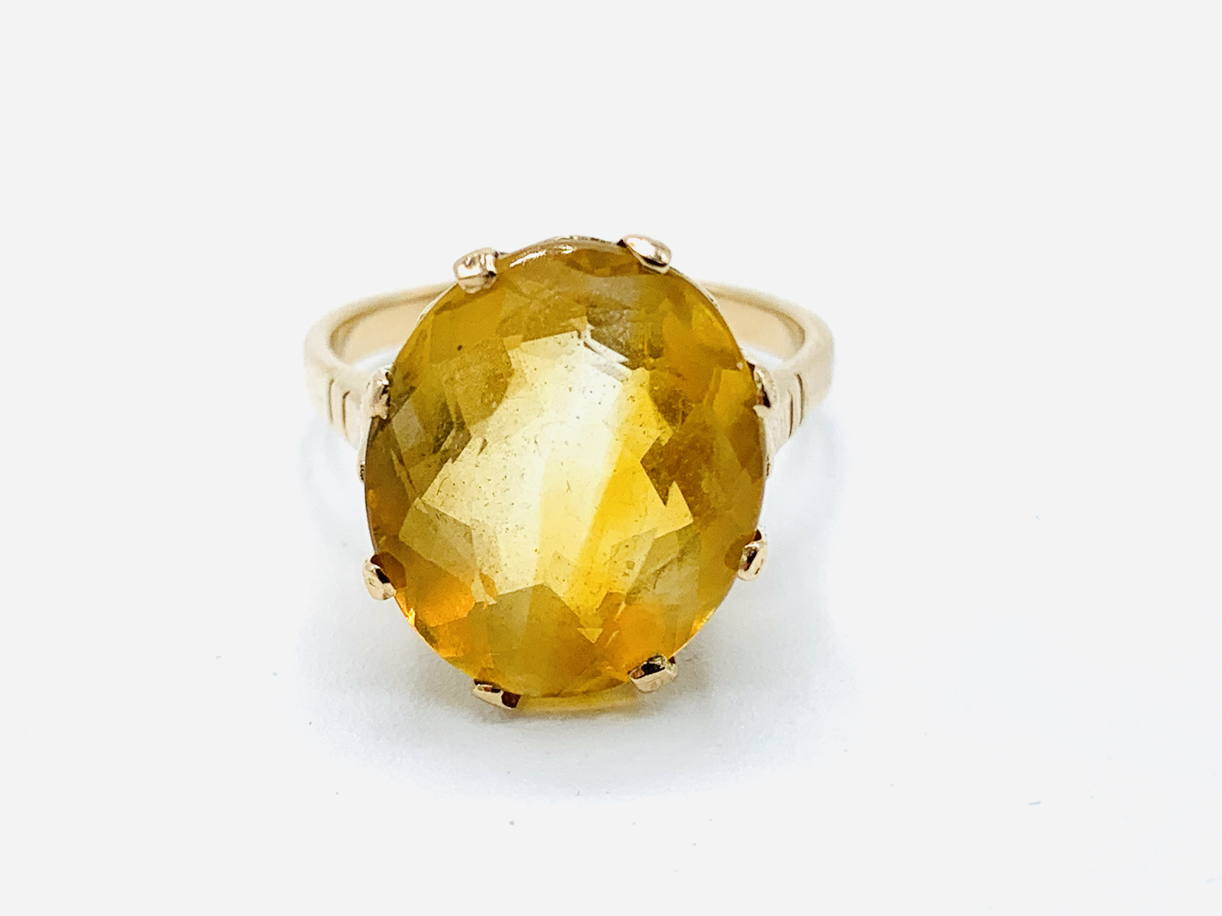 18ct gold and citrine ring and a yellow metal and yellow stone ring - Image 2 of 8