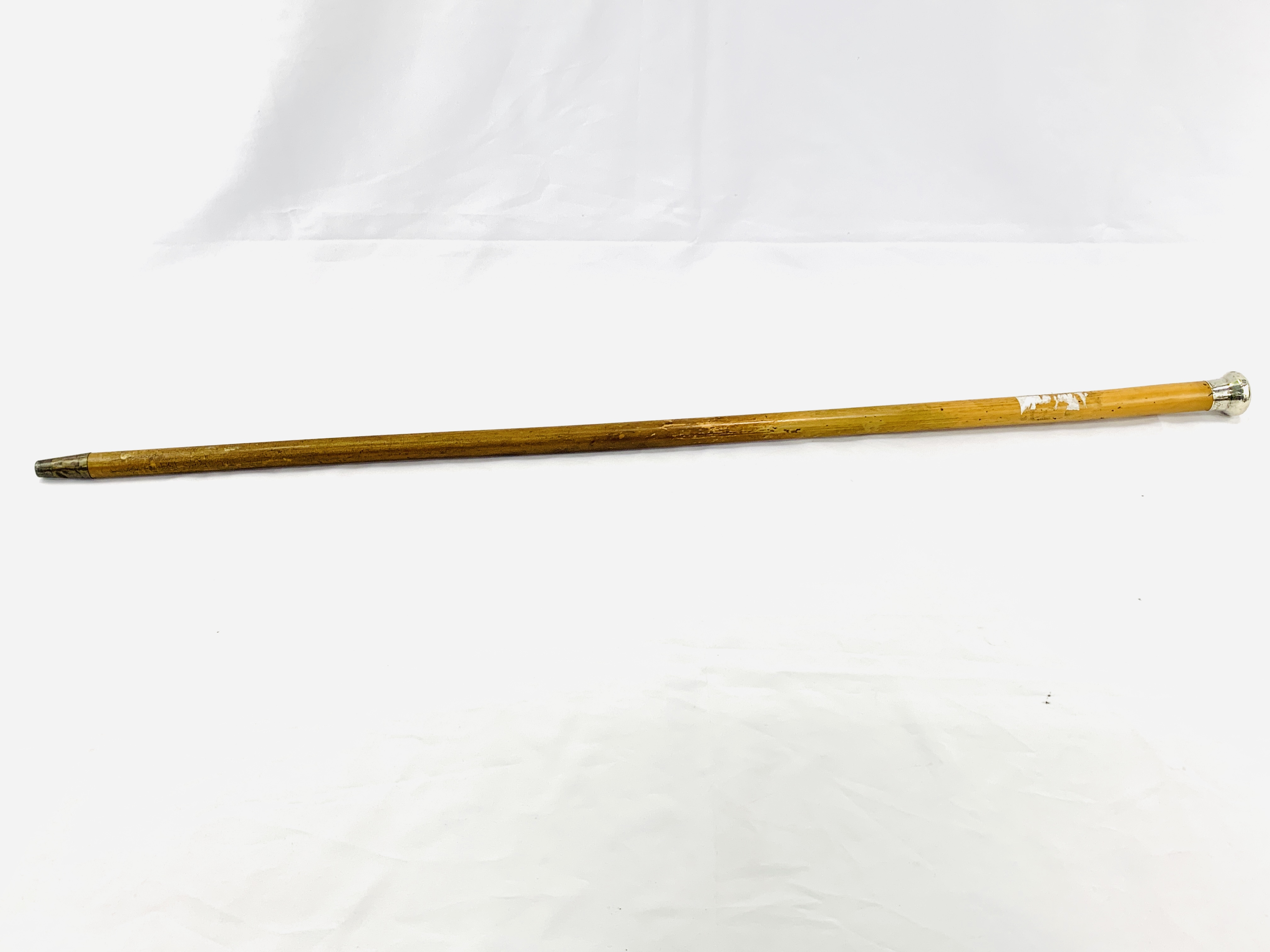 Malacca cane with hallmarked silver top - Image 2 of 4