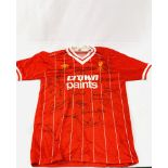 Signed Liverpool FC shirt sponsored by Crown Paints (circa 1983)