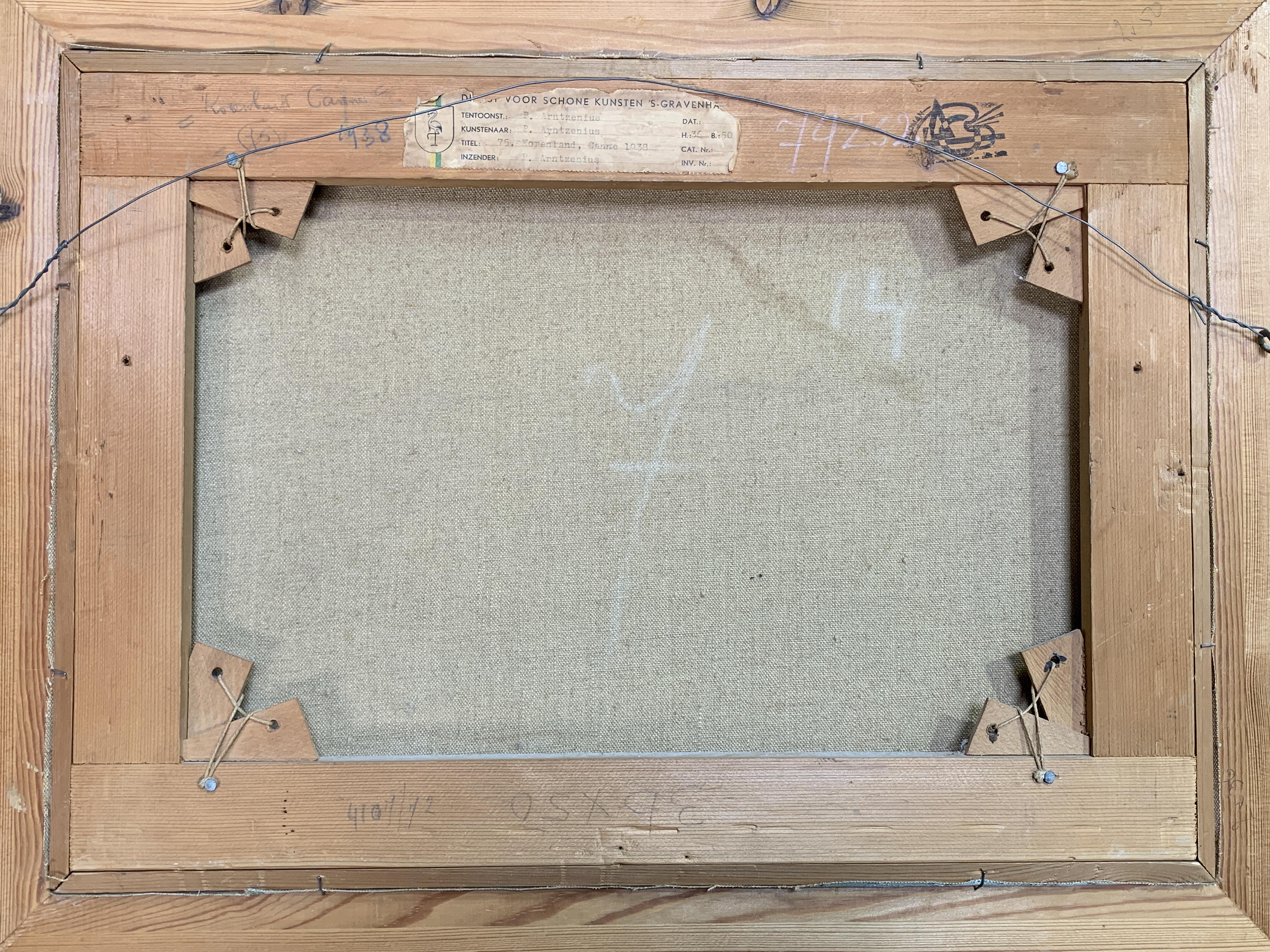Framed oil on canvas of fields signed P. Arntzenius - Image 4 of 4