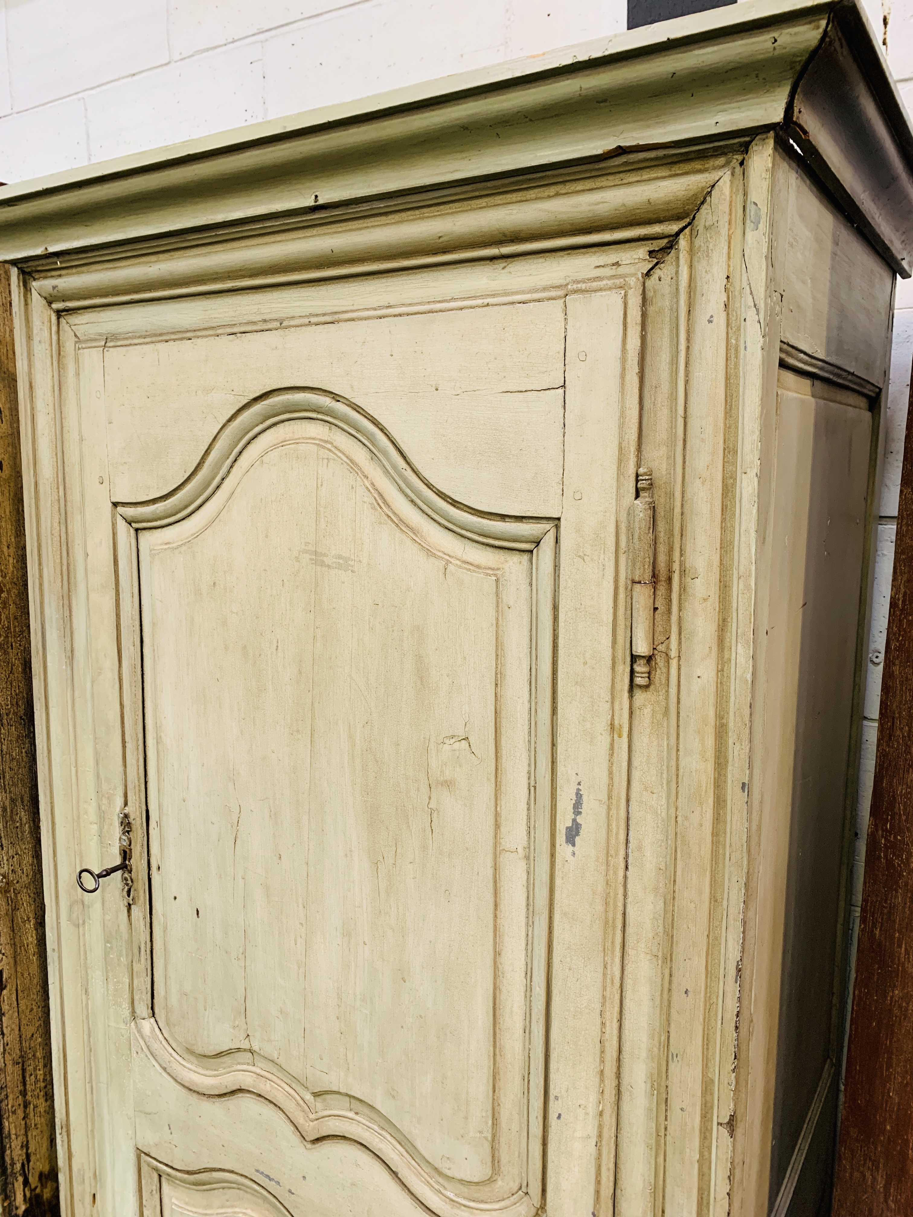 Mid-9th century French painted pine cupboard - Image 5 of 5