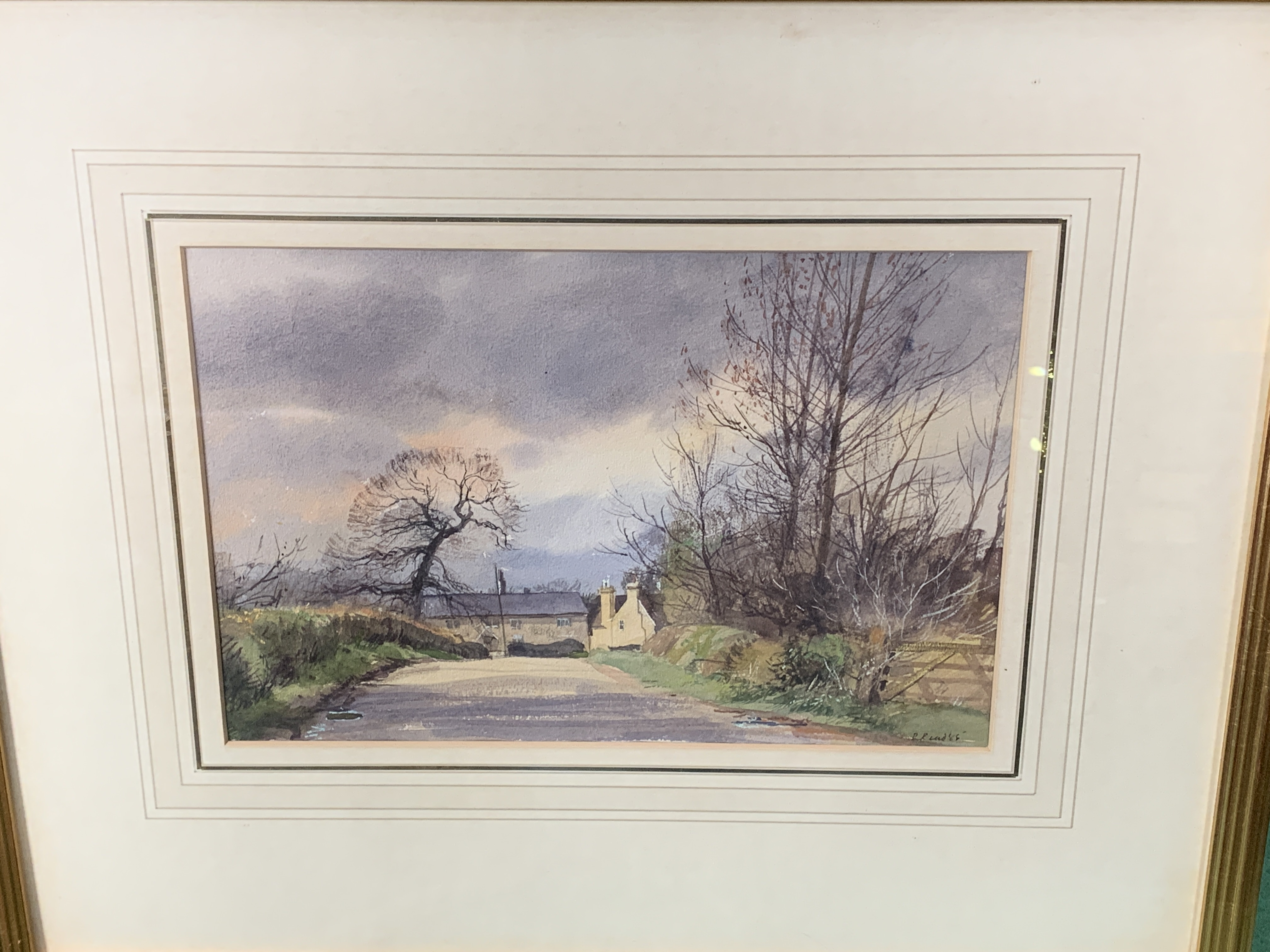 Framed and glazed watercolour, signed and dated R. Read '85 - Image 2 of 3