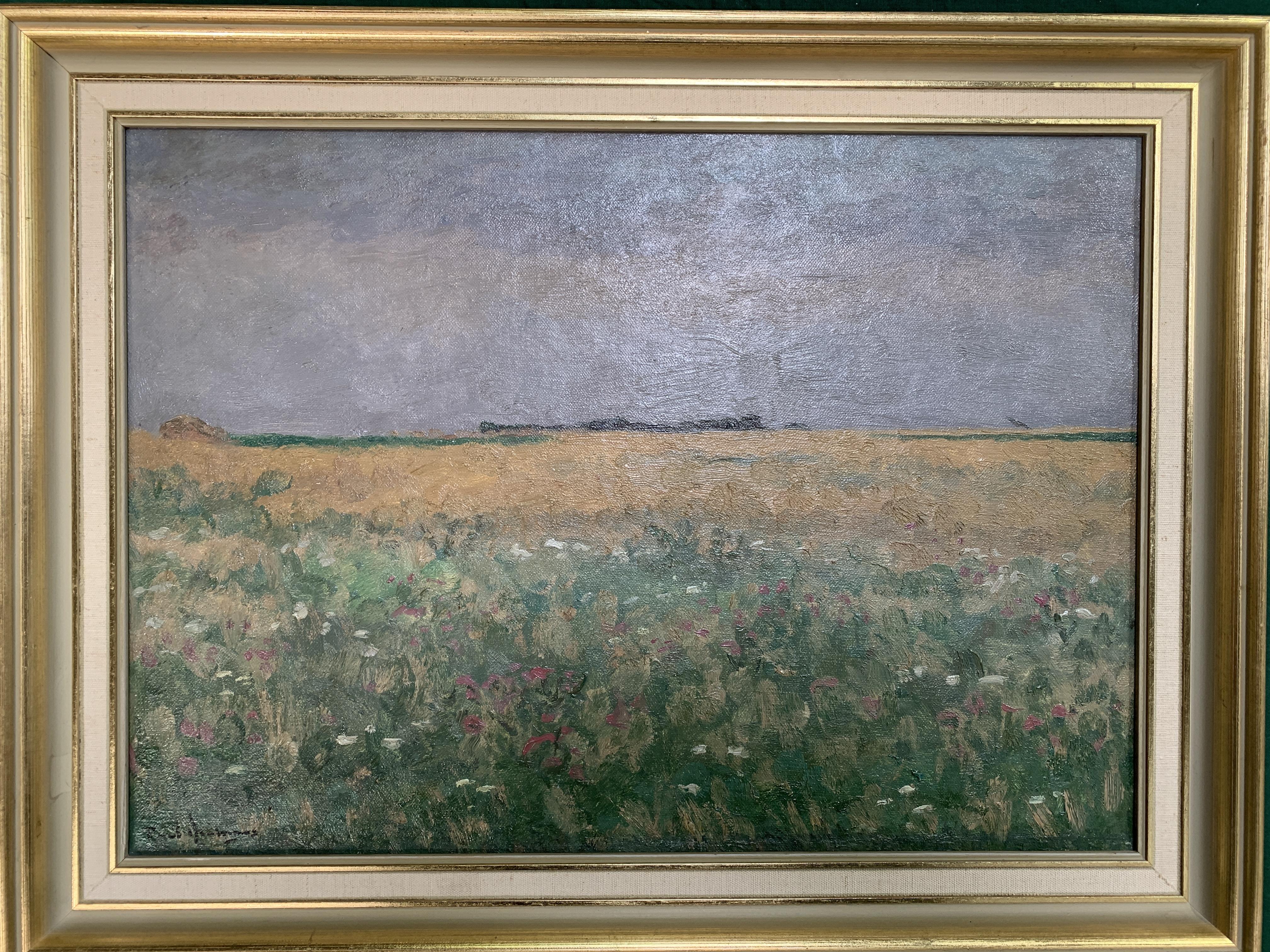 Framed oil on canvas of fields signed P. Arntzenius - Image 2 of 4