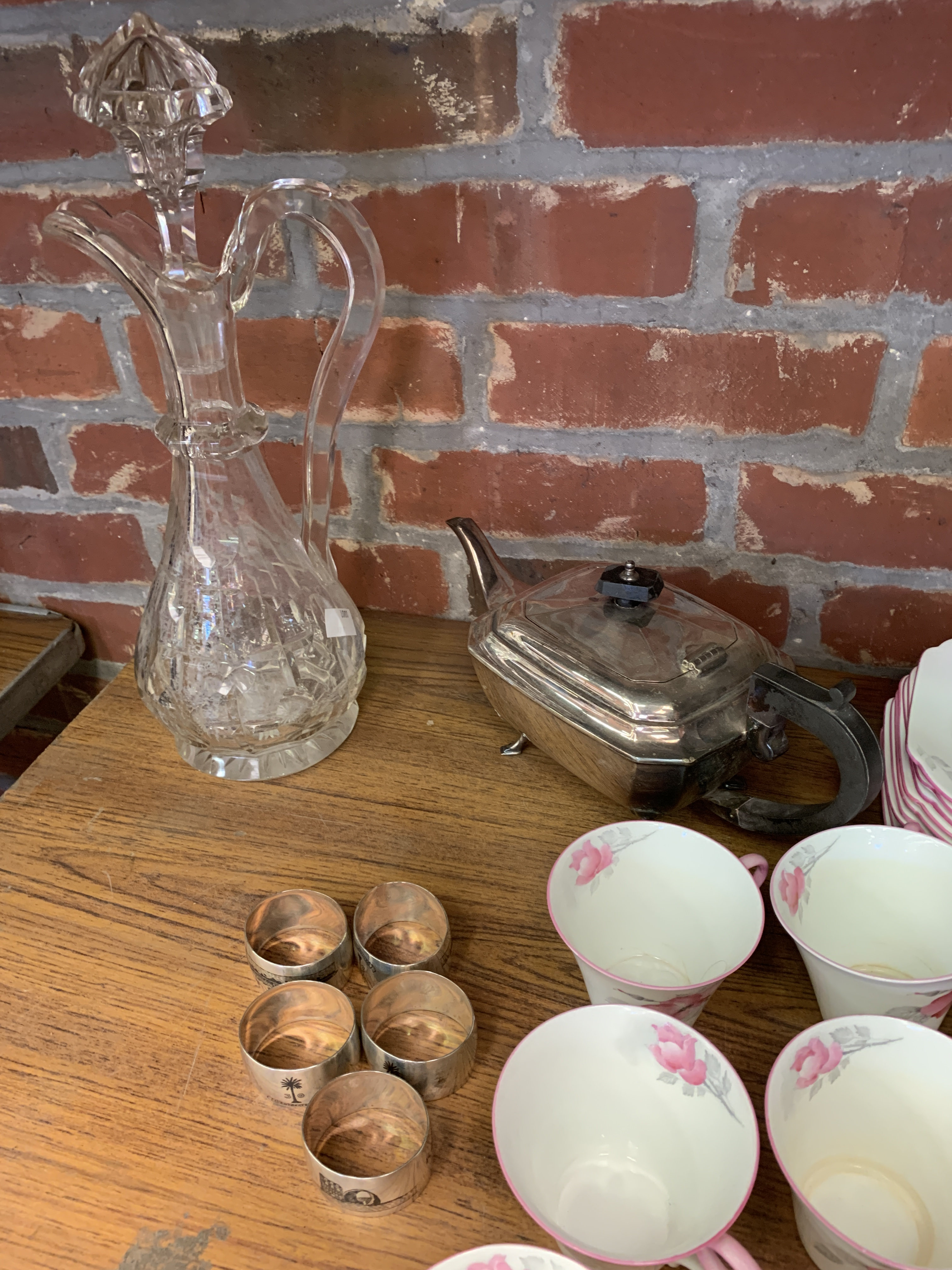 Bavarian part tea and coffee set, together with a Shelley part tea set, and a counter bell - Image 4 of 8