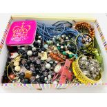 A box of costume jewellery