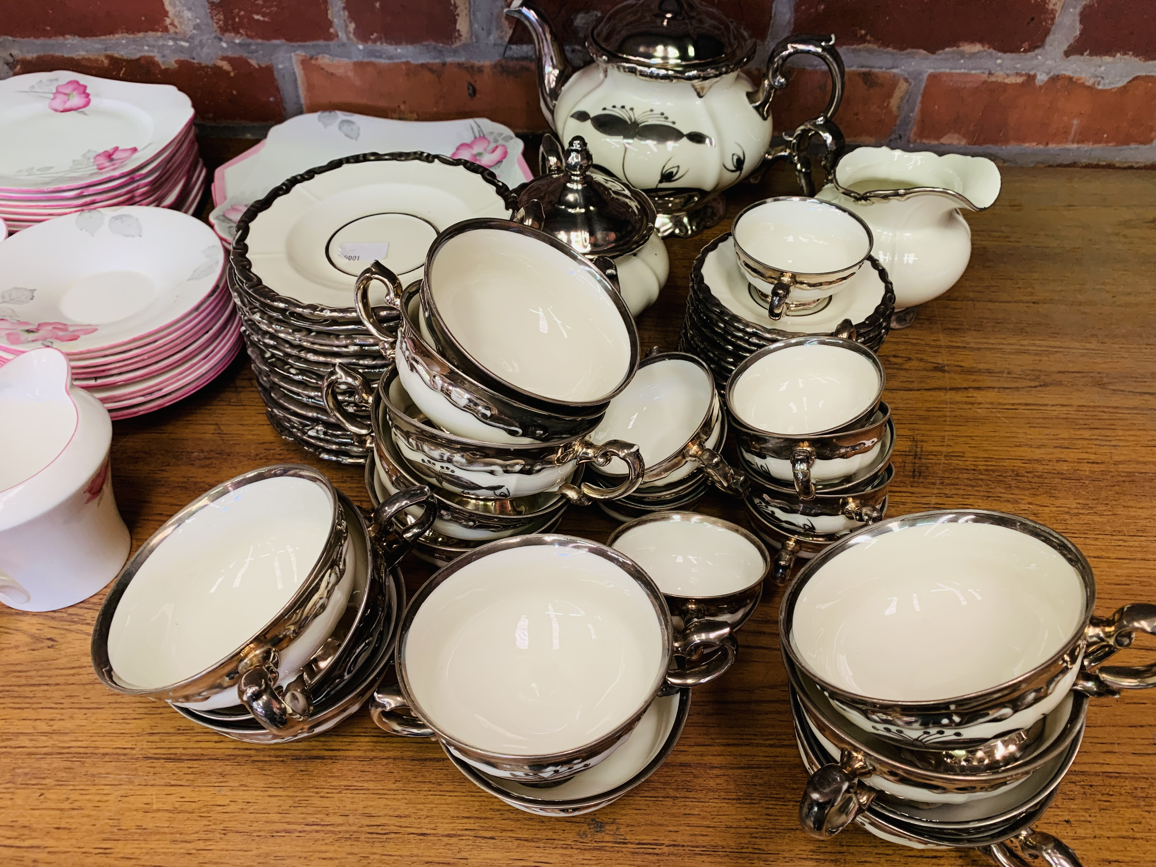 Bavarian part tea and coffee set, together with a Shelley part tea set, and a counter bell - Image 8 of 8