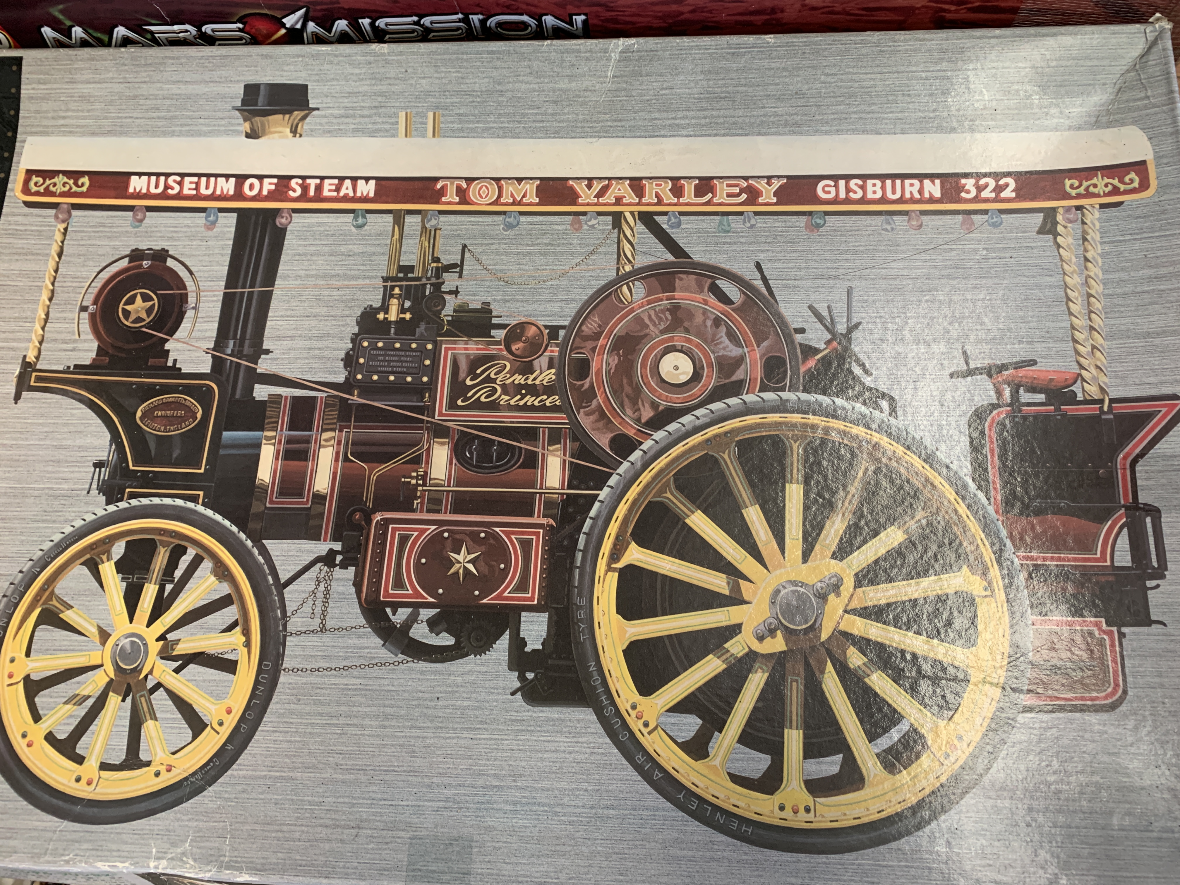 A Bandai model steam traction engine