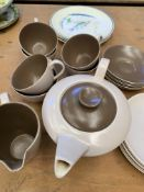 Poole Pottery tea set and other items