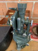 Hilger and Watts theodolite in mahogany case