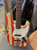 Richwood bass guitar and case