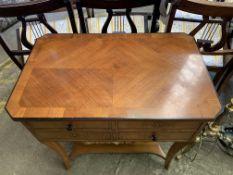 A veneer sewing table