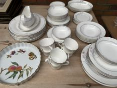 Quantity of Royal Doulton tableware and a Royal Worcester flan dish