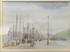 Five framed and glazed watercolours, 2 written on reverse by Ronald Gray
