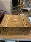Two inlaid mahogany boxes