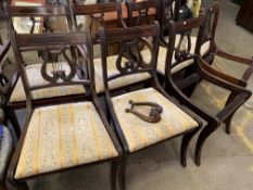 Eight reproduction dining chairs