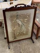 Mahogany framed fire screen