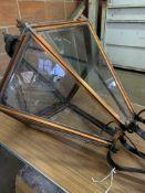 Large glazed Victorian style copper lantern