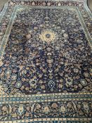 Blue ground wool rug