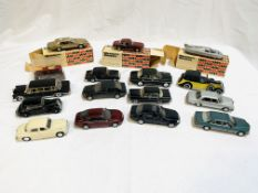 15 diecast model cars.