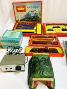 Collection of Tri-ang Hornby OO model trains