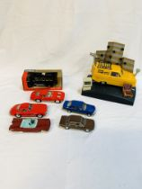 Wesco Only Fools and Horses model car digital clock, together with six diecast model cars.