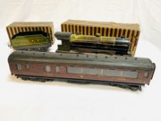 Bowman Models O gauge steam locomotive number 234, tender model 250; LMS and GWR coach