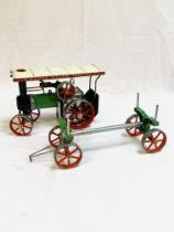 Mamod steam tractor with trailer