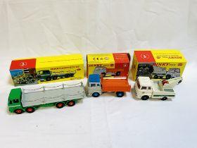 Three boxed Dinky lorries