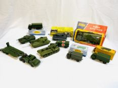 A collection of mainly Dinky model vehicles